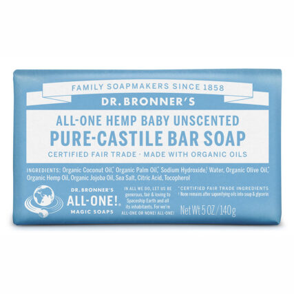 Dr Bronner's - Baby Unscented Pure Castile Bar Soap