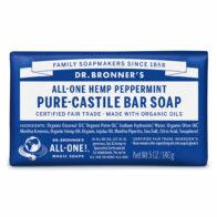 Dr Bronner's - Peppermint Pure Castile Bar Soap
