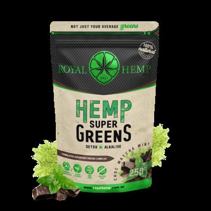 Royal Hemp - Super Greens Choc Matcha Mint 250g